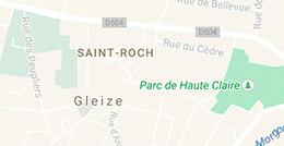 Plan de la commune de Gleizé