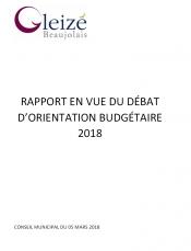 Budget 2018  Débat Orientation Budgétaire