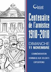 Centenaire armistice 1918 programme