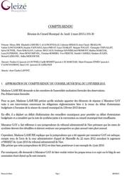 Conseil Municipal 3 juillet