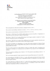 Arrêté préfectoral / COVID-19 24 octobre 2020