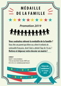 Médaille de la famille 2019