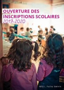 Ouverture des inscriptions scolaires 2019-2020