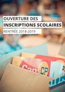 Ouverture des inscriptions scolaires 2018-2019