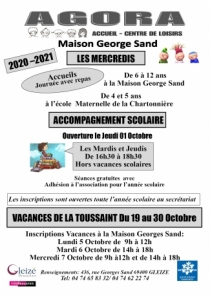Inscriptions Agora - Maison George Sand