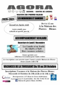 INSCRIPTIONS AGORA - MAISON DES PIERRES BLEUES