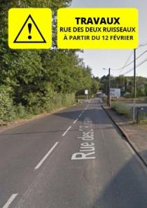 Travaux rue des deux ruisseaux