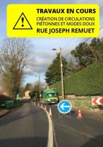 Travaux rue Joseph Remuet