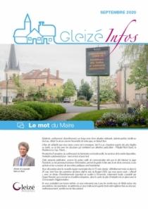 Gleizé Infos de septembre 2020