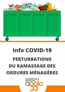Perturbations collecte de déchets
