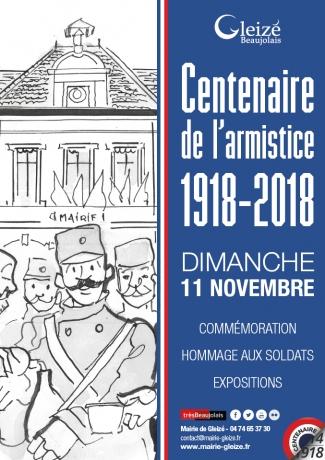 Centenaire de l'armistice 1918-2018